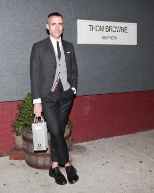 """DEWAR'S """"Browne Bag"""" Launch hosted by Thom Browne and Euan Rellie"""
